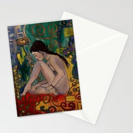 Gustav woman Stationery Cards
