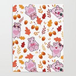 Sakura Fall Pattern Poster