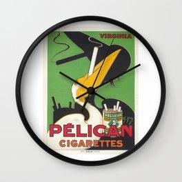 PELICAN CIGARETTES FRANCE VINTAGE POSTER Wall Clock