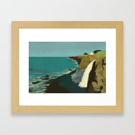 The Coast of California Framed Art Print