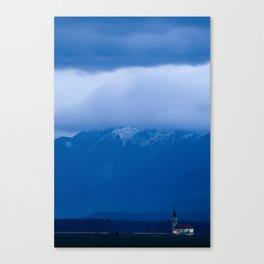 Clouds at dusk Canvas Print