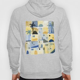 Morning Middle Eastern Town Watercolor Hoody