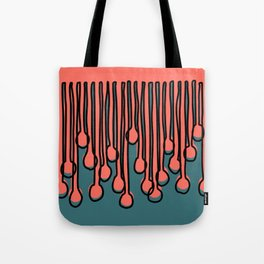 Running to you Living Coral Tote Bag