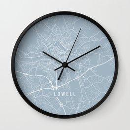 Lowell Map, USA - Slate Wall Clock