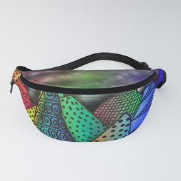 Twilight Rainbow Mountains Fanny Pack
