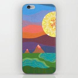 Sunset Mountains iPhone Skin