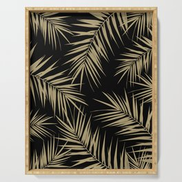 Palm Leaves Cali Finesse #1 #gold #tropical #decor #art #society6 Serving Tray