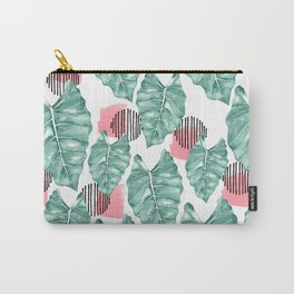 Watercolor tropical leaves abstract Carry-All Pouch
