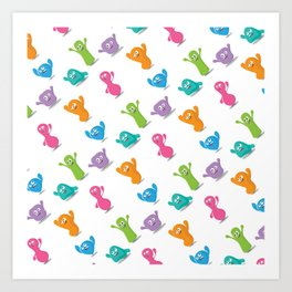Happy colours cheering -pattern Art Print