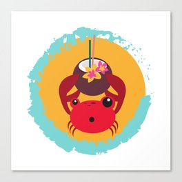 Tropical Crab Canvas Print