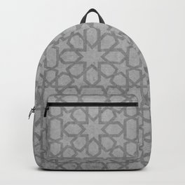 Grey  Design -  Oriental pattern, traditional Morocco Style Backpack