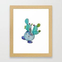 Prickly Pear Cactus Boi Framed Art Print