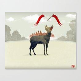 Wood Hyena Canvas Print