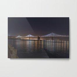 SF BAY BRIDGE Metal Print