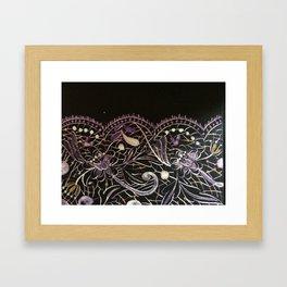 Lilac Lace Framed Art Print