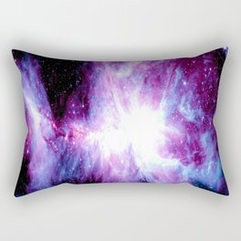 Orion Nebula Purple Periwinkle Blue Galaxy Rectangular Pillow