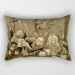 Who let the Dwarves in? Rectangular Pillow