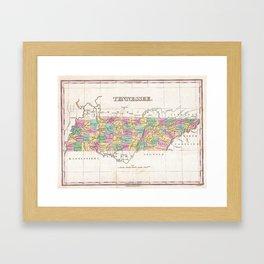 Vintage Map of Tennessee (1827) Framed Art Print
