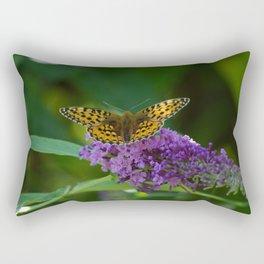 Dark Green Fritillary Butterfly Rectangular Pillow
