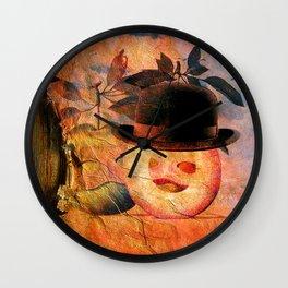 Monsieur Bone dans la pomme  Wall Clock