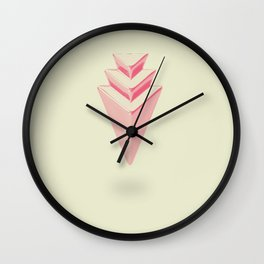 Triangular Piller Wall Clock