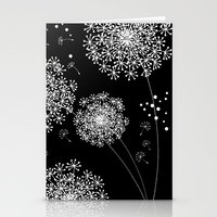 dandelion Stationery Cards featuring DANDELIOn by Monika Strigel