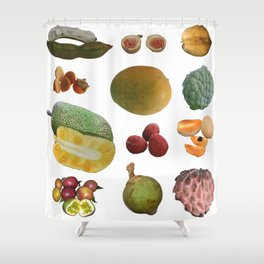 Exotic Fruit Collage Shower Curtain