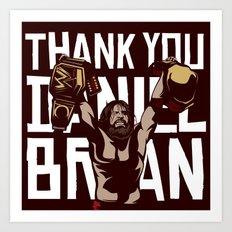 Thank you Bryan Art Print