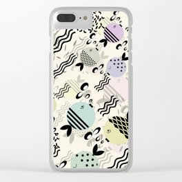 Funny fish 4 Clear iPhone Case