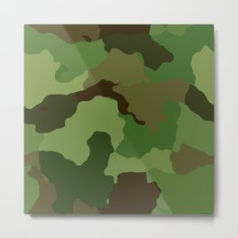 camouflage army green Metal Print