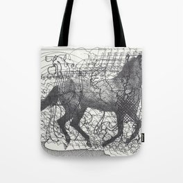 Horse Supercluster Tote Bag