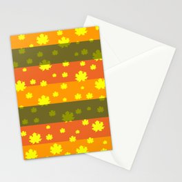 Golden autumn leaves Stationery Cards