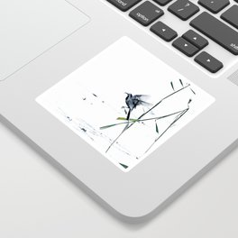 Little Bird (Wagtail - Eurasian Songbird) by The Reeds #decor #society6 #buyart Sticker