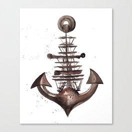 Ship's Anchor Canvas Print