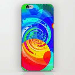 Re-Created Twisters No. 11 by Robert S. Lee iPhone Skin