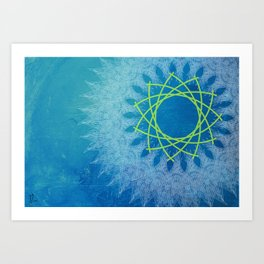 Ice Rotation Art Print