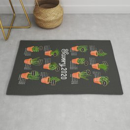 2020 Calendar potted culinary herbs Rug