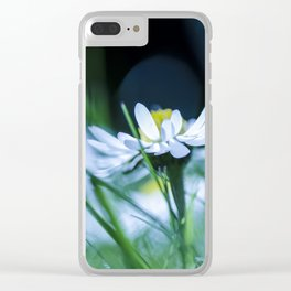 Cold Flower Clear iPhone Case