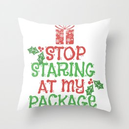 Christmas Gifts Packages Kids Funny Shirt Throw Pillow