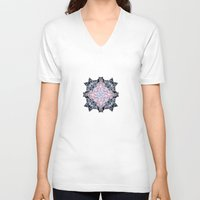 snowflake V-neck T-shirts featuring Snowflake. by Assiyam
