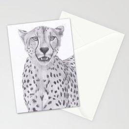 Cheetah Drawing Stationery Cards