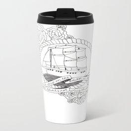 A Ship in the Harbor Metal Travel Mug
