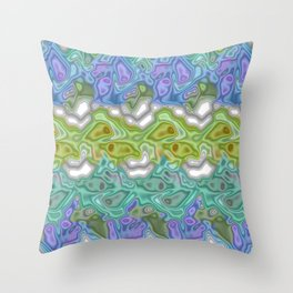 Topography Digital Bayadere Stripe Throw Pillow