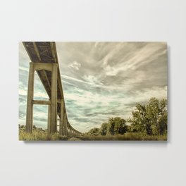 Reedy Point Bridge Against Sky Abstract Rural Landscape Photograph Metal Print