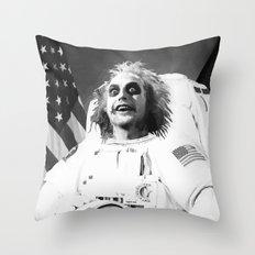 Astronaut Beetle juice Throw Pillow