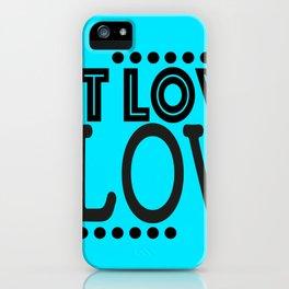 Let love flow iPhone Case