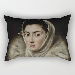 El Greco – Lady in a Fur Wrap Rectangular Pillow
