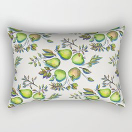 Summer's End - apples and pears Rectangular Pillow