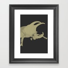 All lines lead to the...Inverted Rhino Beetle Framed Art Print