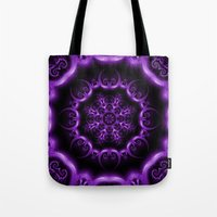 heavy metal Tote Bags featuring Heavy Metal by inkedsandra